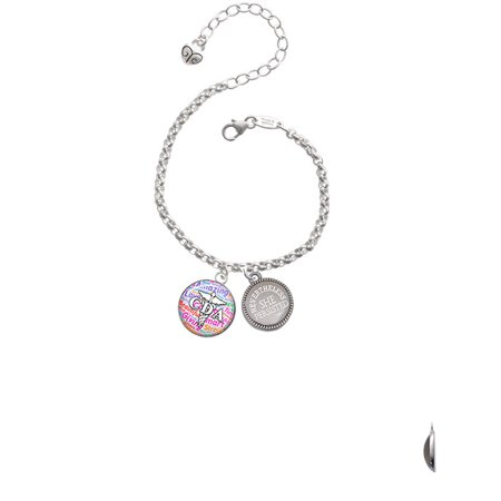 Domed Multi Color Cda Nevertheless She Persisted Engraved Bracelet