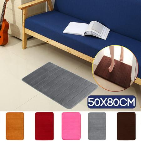 32''x20'' Memory Foam Doormat Absorbent Non-Slip Kitchen Bath Door Floor Mat ()