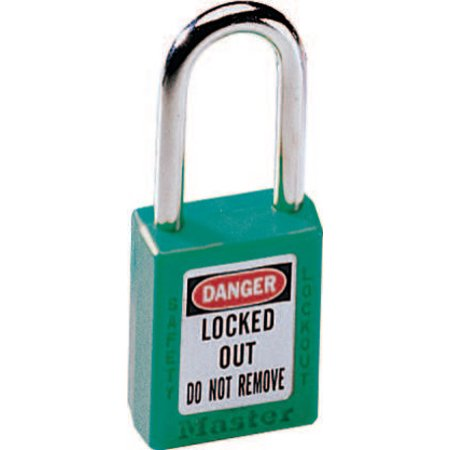 Master Lock No. 410 & 411 Lightweight Xenoy Safety Lockout Padlocks, Green American Safety Lockout Padlocks
