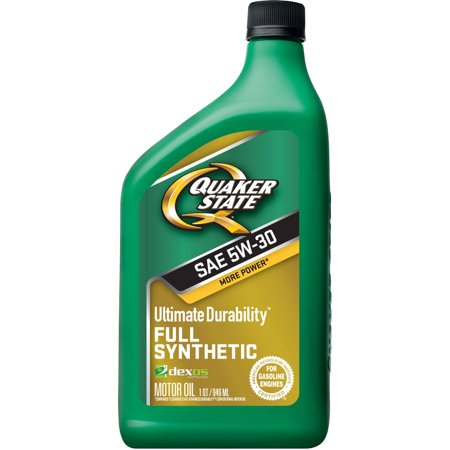 (3 Pack) Quaker State Ultimate Durability Dexos Full Synthetic Motor Oil, 5W30, 1 (Quaker State Synthetic Oil Vs Mobil 1)