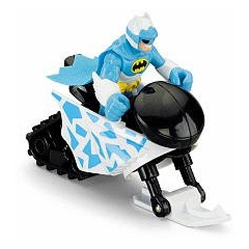 Fisher-Price Imaginext DC Superfriends Arctic Batman Action Figure with Snowmobile