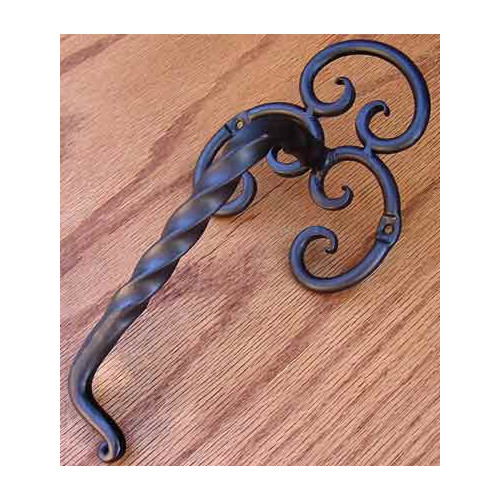 Agave Ironworks Twisted Fancy Back Bar Pull
