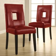 A Line Furniture Lillian Bi-cast Leather Dinning Chairs (Set of 2)