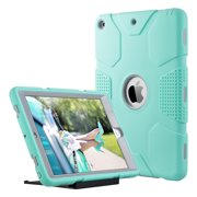 ULAK iPad 9.7 2017/2018 Case, Heavy Duty Shockproof Kidproof Protective Case Silicone PC Dual Layer Hybrid Cover for Apple iPad 9.7 inch (2017 / 2018) with Universal Kickstand