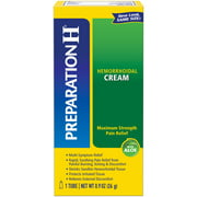 Preparation H Hemorrhoid Symptom Treatment Cream (0.9 Ounce), Maximum Strength Pain Relief with Aloe, Tube