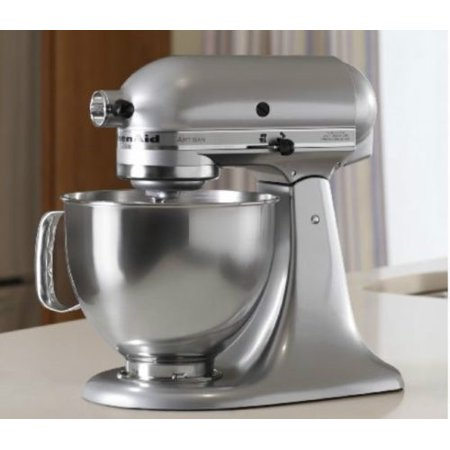 Kitchenaid rrk150mc 5 quart artisan series tilt head stand mixer metallic chrome certified - Walmart kitchen aid stand mixer ...
