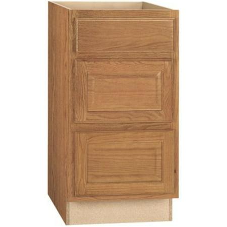 RSI HOME PRODUCTS HAMILTON DRAWER BASE CABINET, FULLY ASSEMBLED, RAISED PANEL, OAK, 24X34-1/2X24 (Oak Raised Panel)