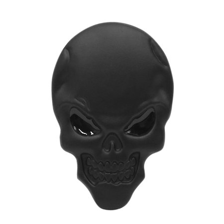 Noir Tête de Mort Os voiture corps 3D emblème Badge Sticker Autocollant Décor - image 2 de 2