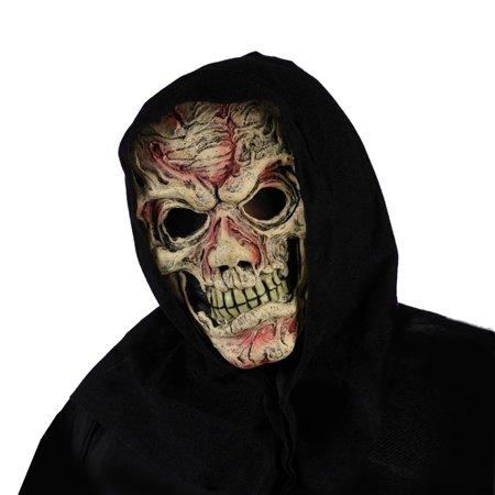 Exposed Flesh Hooded Mask - Halloween Exposed