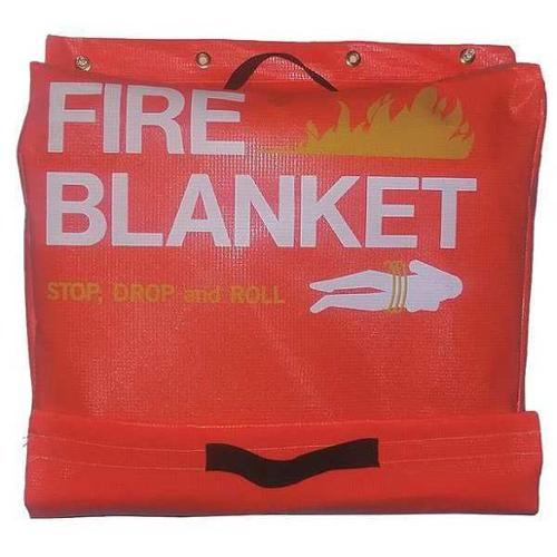 Fire Blanket Vinyl Tote, 8AA30