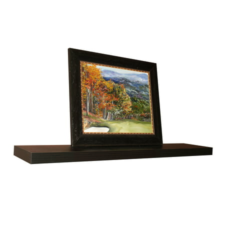 Floating Wall Shelf, Espresso, 60 in W x 10 in D x 2 in