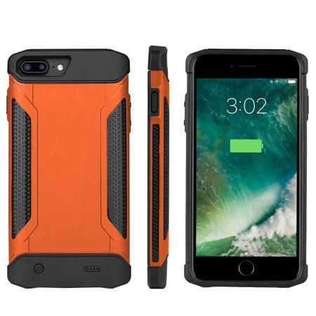 Amerteer For iPhone 6 6s 7 8 plus 4000-5000mAh Waterproof Battery Case;External Power Bank Waterproof Dirtproof Shockproof Battery Pack Charger Armor