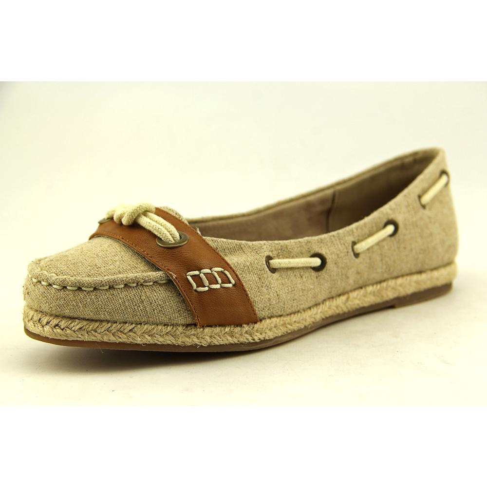Bella Vita Buoy II Women Moc Toe Canvas Tan Loafer by Bella Vita