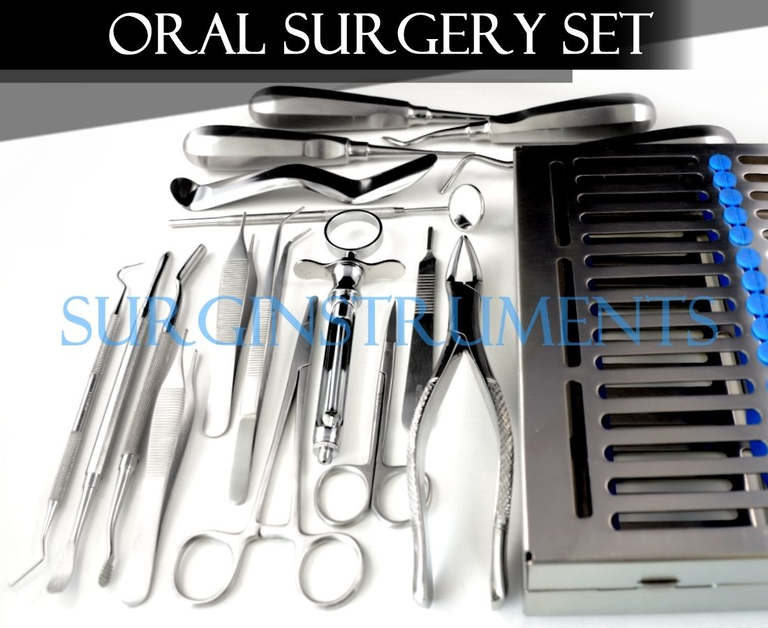 Click here to buy 18 Pcs Premium Basic Oral Dental Surgery Surgical Instruments Set Kit by surgicalonline.