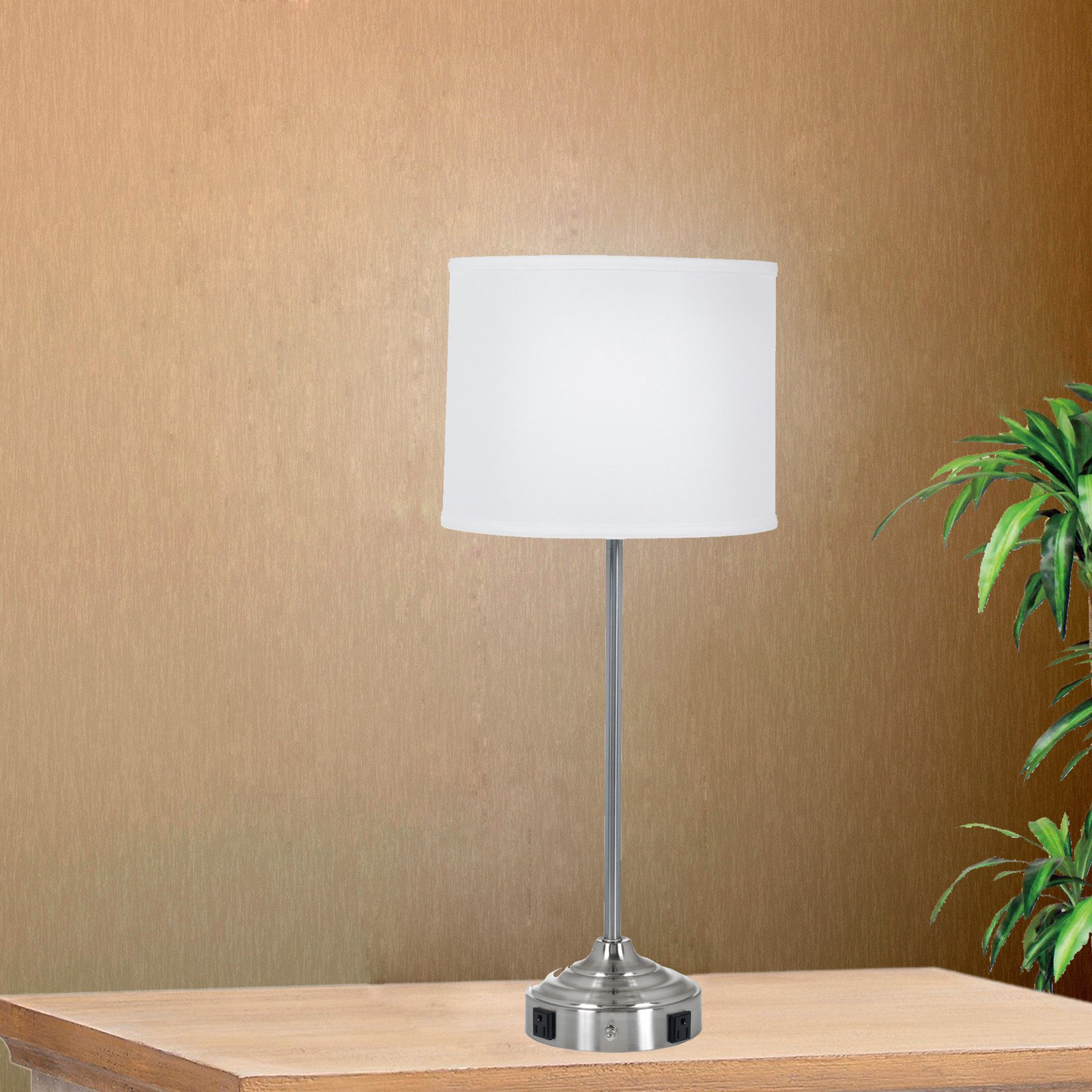 Superbe Tech Friendly Table Lamp With 2 Convenience