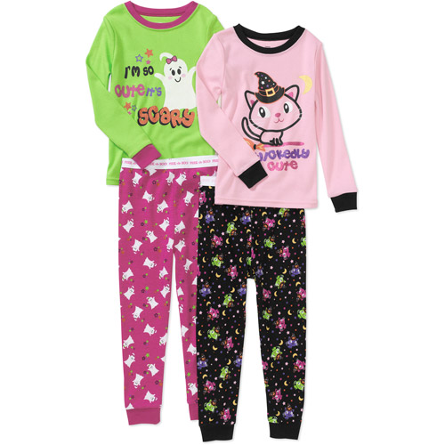 Baby Girls' Halloween Tight Fit Pajamas, 2 Sets