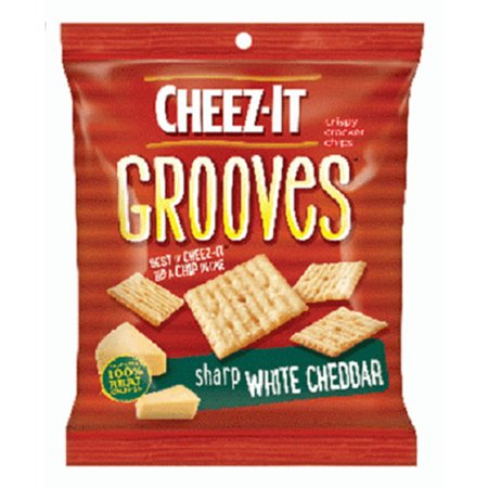 Sharp White Cheddar (Product Of Cheez-It Grooves, Sharp White Cheddar, Count 6 (3.25 oz) - Cookie & Cracker / Grab Varieties &)