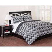 East End Living Full/Queen Size Classic Chevron Duvet Set 3 pc Bag