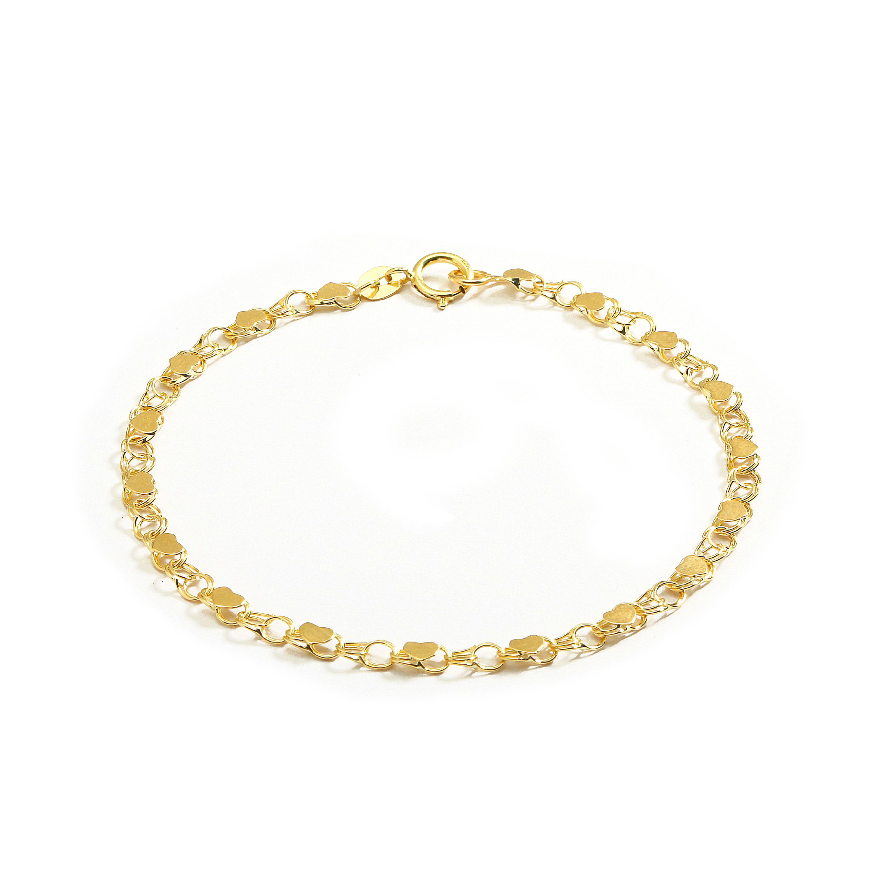 Roy Rose Jewelry 10K Yellow Gold 2mm Diamond-cut Extra-Lite Rope Chain Anklet Bracelet ~ Length 10 inches