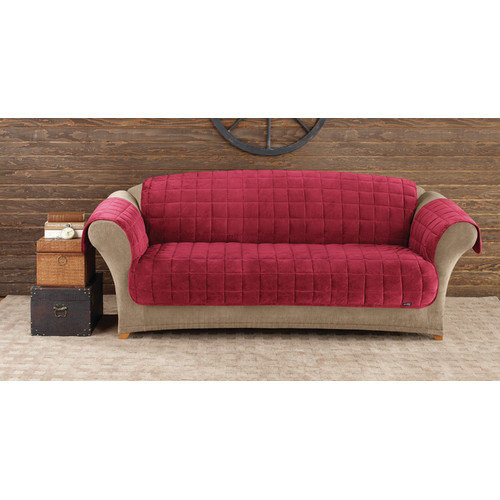 Sure Fit Quilted Velvet Deluxe Sofa Pet