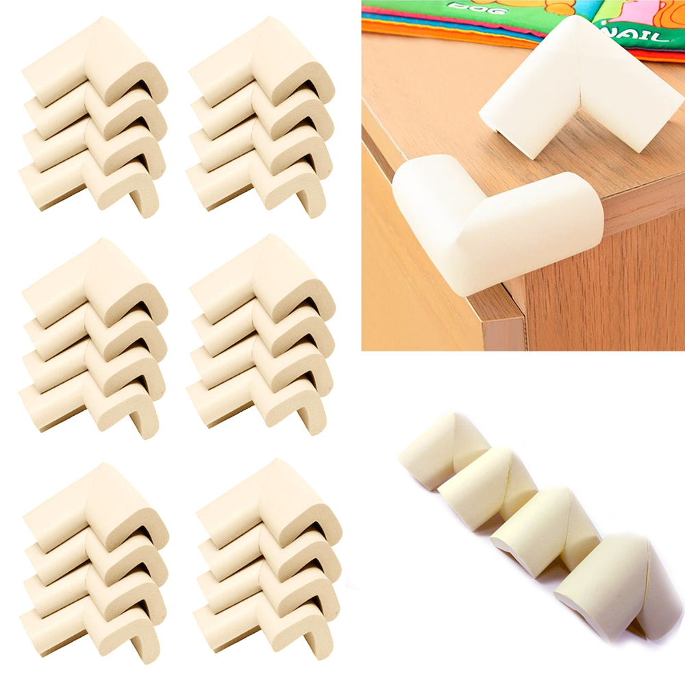 24 Pc Baby Safety Cushion Protector Table desk Edge Corner Guard Softener Bumper by AllTopBargains