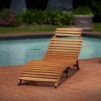 Lahaina Wood Outdoor Chaise Lounge