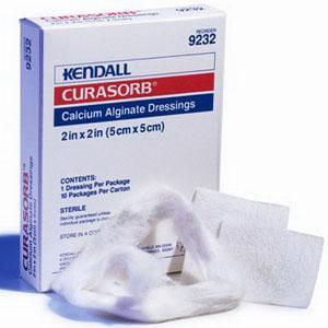 Curasorb Calcium Alginate Dressing 4 x 4 Inch, Box of 10 Curasorb Calcium Alginate Dressing
