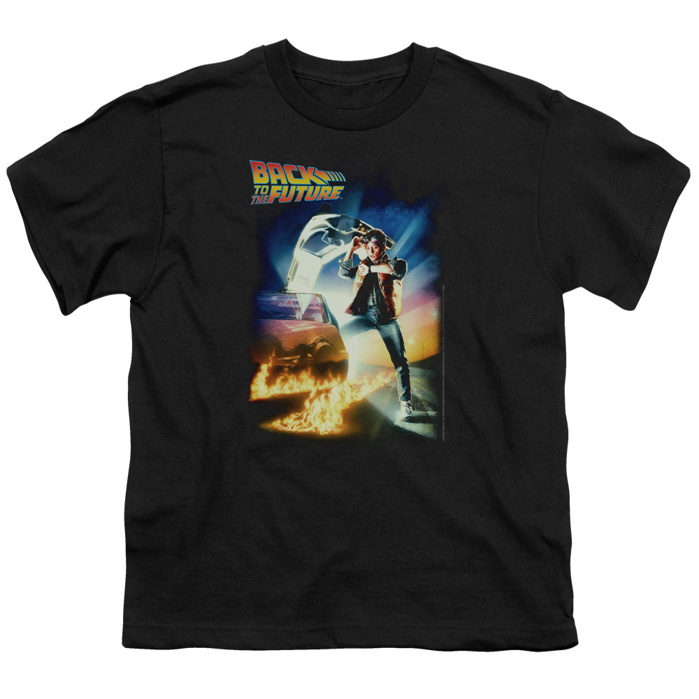 Back To The Future Poster Big Boys Shirt BLACK XL