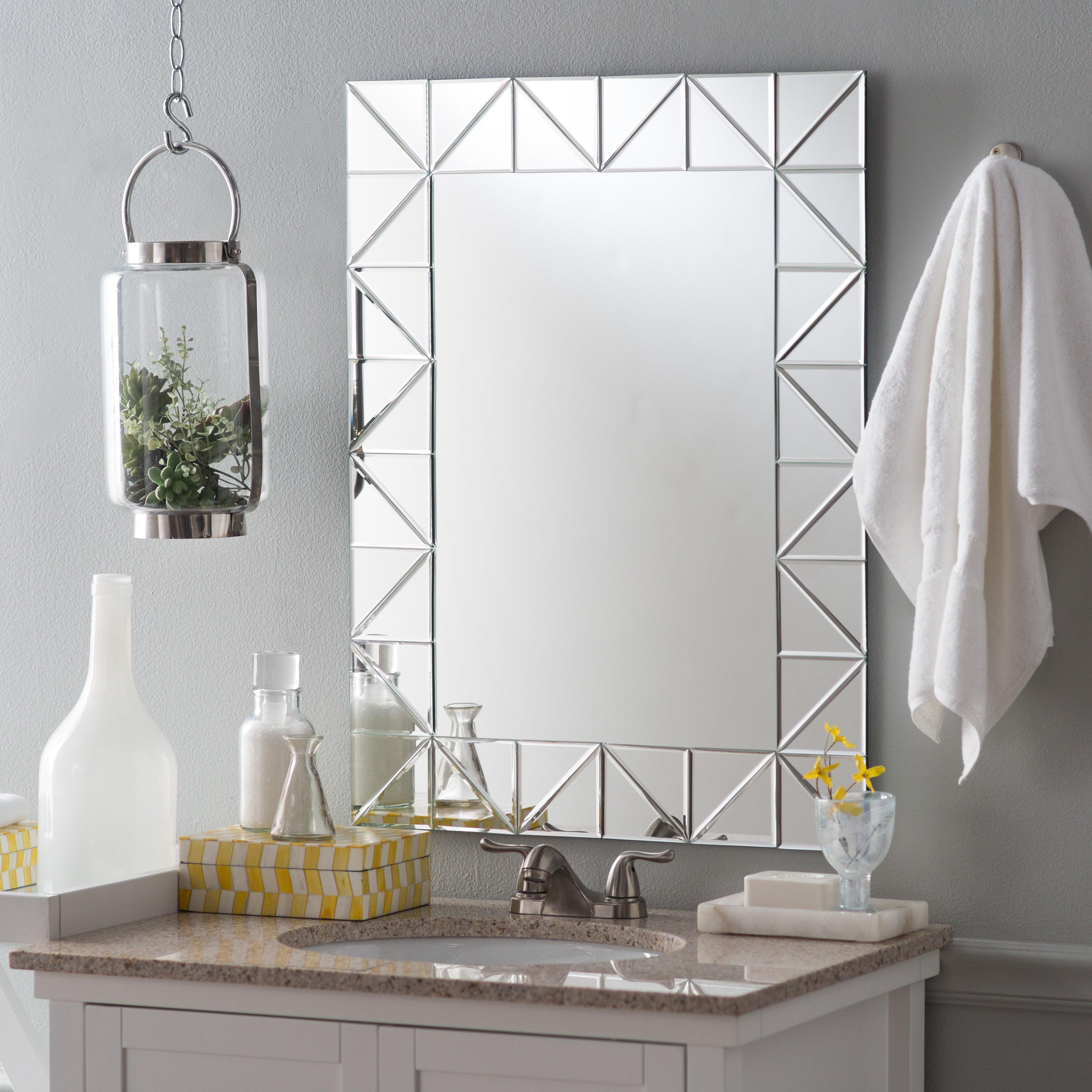 Decor Wonderland Miami Modern Bathroom Mirror 23.6W x 31.5H in. by