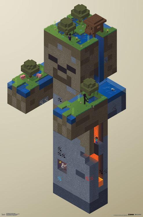 "Trends International Minecraft Zombie Swamp Wall Poster 22.375"" x 34"" by Trends International"
