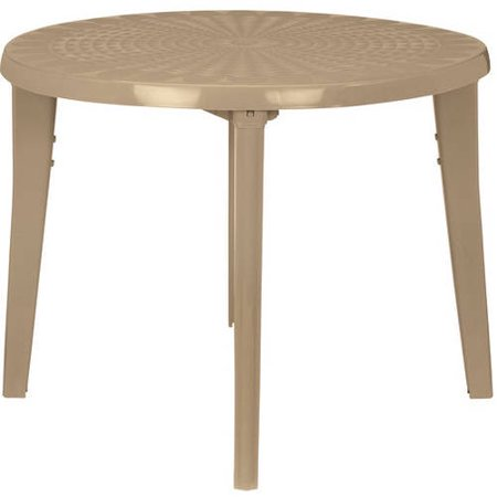 Us Leisure 38in Round Resin Table - Dune - Us Leisure 38in Round Resin Table - Dune - Walmart.com