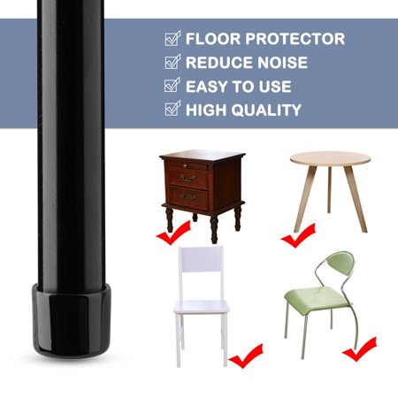 "PVC Leg Tip Furniture Chair Desk Feet Floor Protector 29mm 1.14"" Inner Dia 32pcs - image 5 de 7"