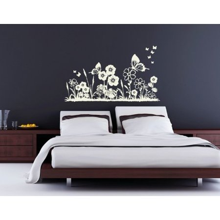 Flower Meadow Wall Decal Wall Sticker Vinyl Wall Art Home Decor Wall M