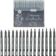 15 Pcs Hand Lettering Brush Pens Art Markers Kit for Beginners, Calligraphy Set