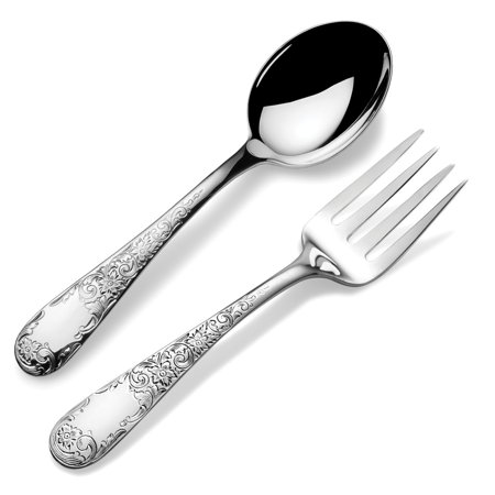 Kirk Stieff Sterling Silver Old Maryland Engraved 2-piece Baby Flatware