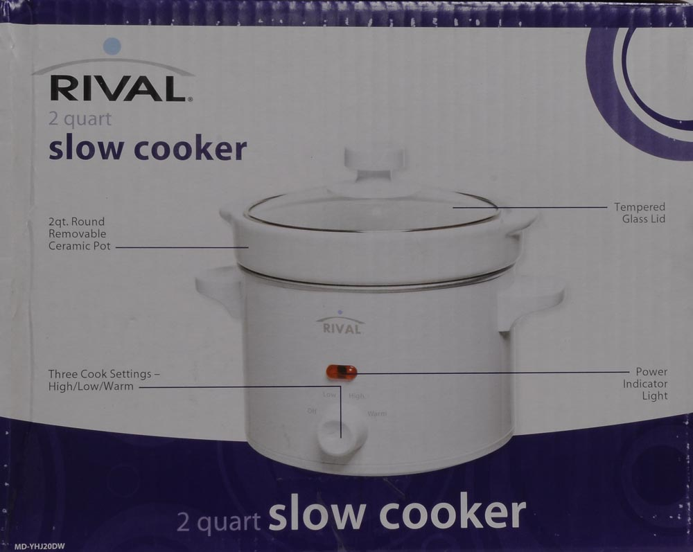 Rival 2 Qt Slow Cooker White