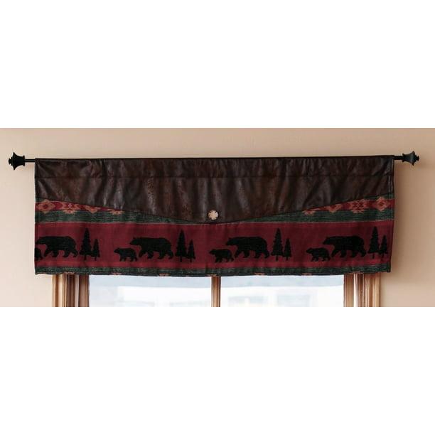 Bear And Moose Cabin Curtain Valance