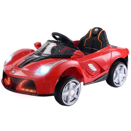 12V Battery Powered Kids Ride On Car RC Remote Control w/ LED Lights Music - Kids Light Toys