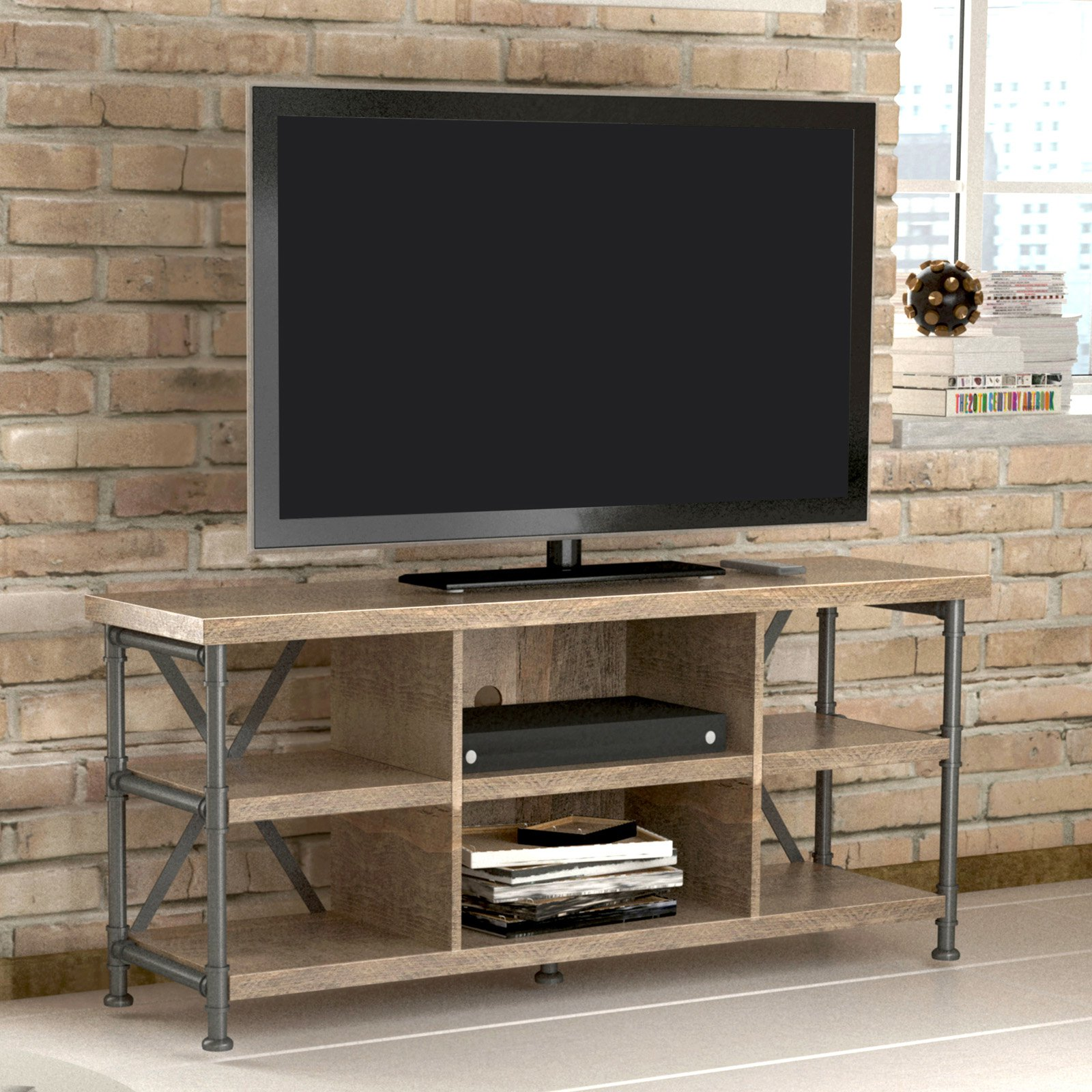 BellO Irondale 54 in. TV Stand - Autumn Driftwood