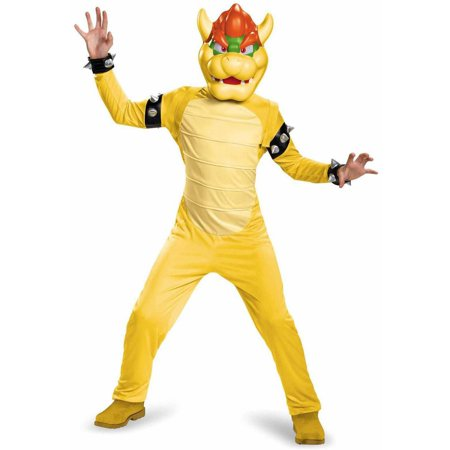 Super Mario Bros Bowser Deluxe Child Halloween Costume