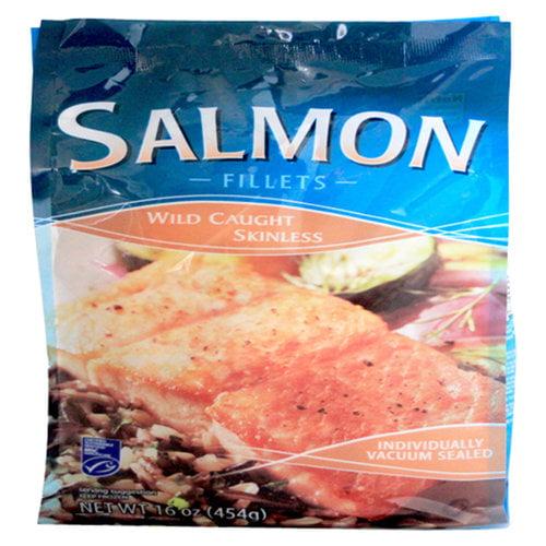 Wild Caught Skinless Salmon Fillets, 16 oz