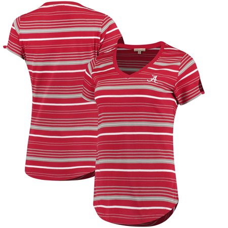 Alabama Crimson Tide Women's Striped Tailgate T-Shirt - (Alabama Tailgate)