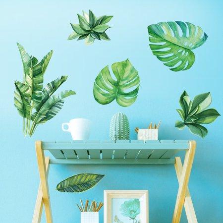 Banana Leaves Art Vinyl Mural Home Room Decor Wall Stickers (Banana Leaf Wall)
