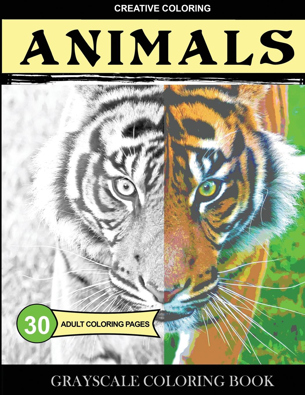 Grayscale Coloring: Grayscale Coloring Book: Animals ...
