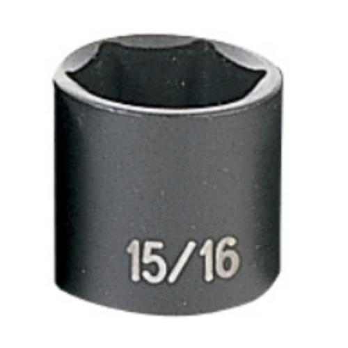 "Grey Pneumatic 1030R 3/8"" Drive Fractional Standard Impact Socket 15/16"