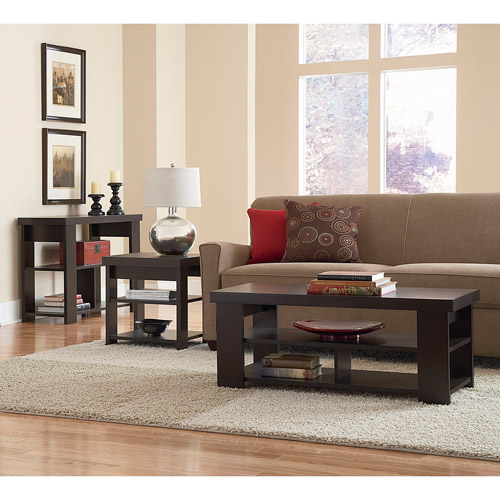Larkin Coffee Table, Sofa Table & End Table Value Bundle, Espresso