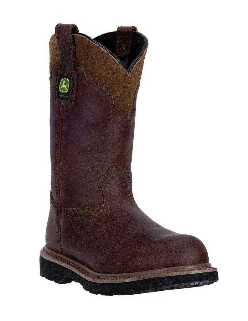 """John Deere Western Boots Mens 11"""" Gaucho Pull On Welt Brown JD4194 by John Deere"""