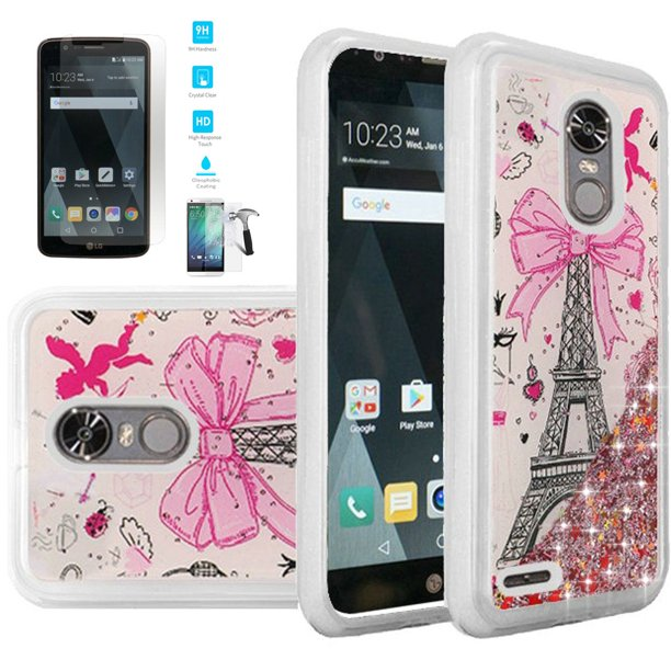 Phone Case For Straight Talk Lg Stylo 3 Total Wireless Lg Stylo 3 Plus Tempered Glass Screen With Liquid Quicksand Glitter Cover Quicksand Paris Tempered Glass Walmart Com Walmart Com