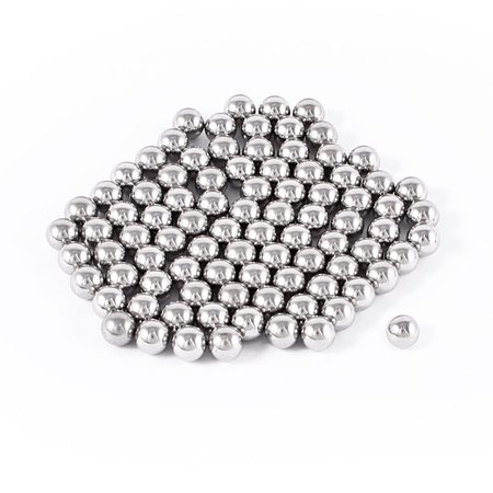 Gray 7mm Dia Bearing Steel Balls Bike Bicycle Spare Parts 100 Pcs