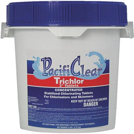 Water Techniques F008005040PC Trichlor 3 in. Tablets - 5 lbs Pail - image 1 of 1